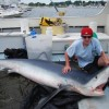 Teenager catches record sized blue shark