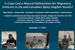 Migratory Patterns of US and Canadian Spiny Dogfish Stocks