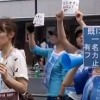 Protesters in Tokyo demonstrate against shark fin soup
